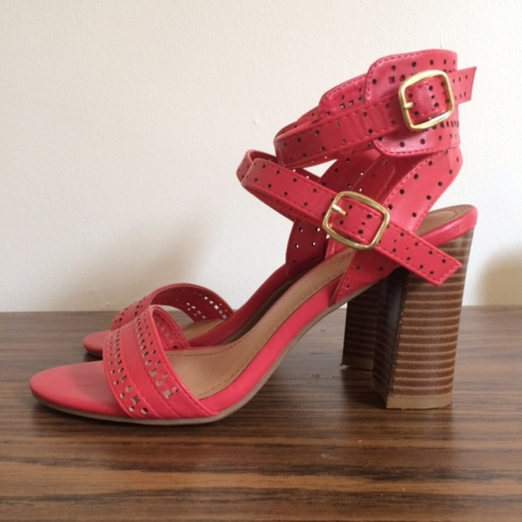 952853d1be08 BAMBOO Shoes - BAMBOO Kendria Coral Cutout High Heels